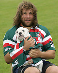 File pic dated 25th August 2009 of Martin Castrogiovanni with his bulldog Fatty - Italy's Martin Castrogiovanni is set to miss Saturday's Six Nations match against Scotland at Murrayfield after being bitten on the nose by a dog - Photo Malcolm Couzens/Sportimage