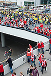 Norwich City 2 Middlesbrough 0, 25/05/2015. Wembley Stadium, Championship Play Off Final. Middlesbrough and Norwich supporters enjoying the pre match atmosphere around the stadium. A match worth £120m to the victors. On the day Norwich City secured an instant return to the Premier League with victory over Middlesbrough in front of 85,656. Photo by Simon Gill.
