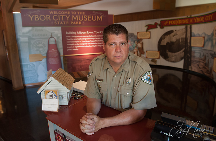 Ranger Brian Snyder at the Ybor City State Museum in Ybor City today, Thursday 6/11/15. Photo/Jay Nolan
