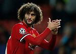 Marouane Fellaini of Manchester United leaves the pitch after the Champions League Group A match at the Old Trafford Stadium, Manchester. Picture date: September 12th 2017. Picture credit should read: Andrew Yates/Sportimage