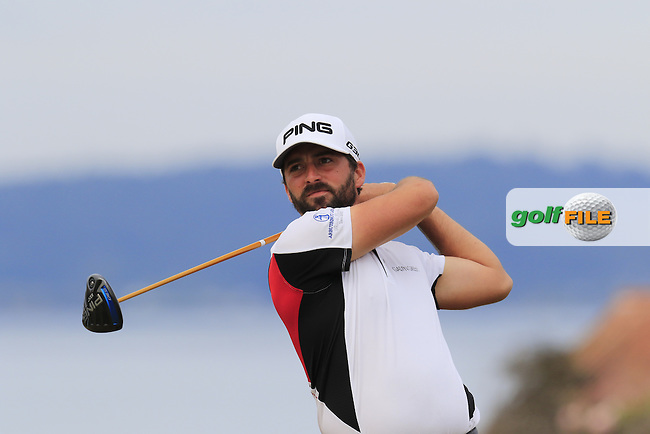 John PARRY (ENG) tees off the 18th tee during Thursday's Round 1 of the 2015 U.S. Open 115th National Championship held at Chambers Bay, Seattle, Washington, USA. 6/18/2015.<br /> Picture: Golffile | Eoin Clarke<br /> <br /> <br /> <br /> <br /> All photo usage must carry mandatory copyright credit (&copy; Golffile | Eoin Clarke)