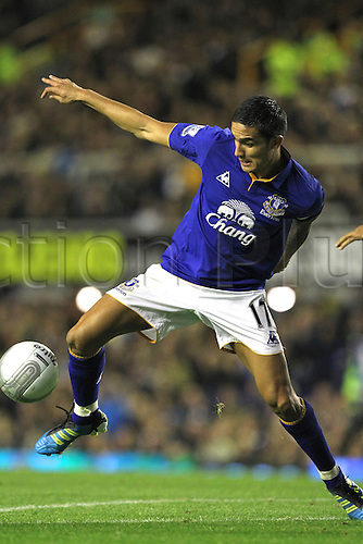 26.10.2011. Liverpool, England. Tim Cahill in action in the Carling Cup match between Everton and Chelsea at Goodison Park. Mandatory Credit ActionPlus.