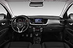 Stock photo of straight dashboard view of a 2018 KIA Stonic Sense 5 Door SUV