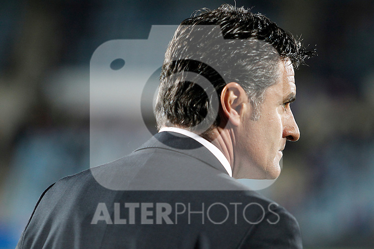 Getafe's coach Michel during La Liga Match. March 02, 2011. (ALTERPHOTOS/Alvaro Hernandez)