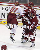 Jimmy Hayes (BC - 10), Eddie Olczyk (UMass - 16), Michael Marcou (UMass - 22) - The Boston College Eagles defeated the University of Massachusetts-Amherst Minutemen 2-1 (OT) on Friday, February 26, 2010, at Conte Forum in Chestnut Hill, Massachusetts.