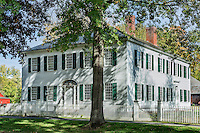 Williams House in historic Deerfield, Massachusetts, USA