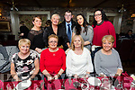 Patsy Stone, Ballyvelly, Tralee celebrates her 50th Birthday with family and friends at Cassidy's on Saturday Front l-r Margaret Breen, Mary Greensmith, Patsy Stone, Joan Walsh Back l-r Brenda O'Connor, June McCauley, Paudie O'Riordan, Ger Lynch and Oonagh O'Connor
