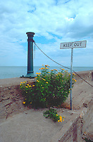 Shore of Lake Superior in front of the Congdon Mansion.  Duluth Minnesota USA