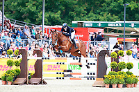 AUS-Emma McNab rides Fernhill Tabasco during the Showjumping for the CIC3* Meßmer Trophy - German Eventing Championship,, at the 2017 Luhmühlen International Horse Trial. Sunday 18 June. Copyright Photo: Libby Law Photography