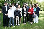 David Lally with family at Sandpit church on Saturday for his First Communion.