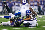 Dallas Cowboys wide receiver Dez Bryant (88) and Baltimore Ravens inside linebacker Daryl Smith (51) in action during the pre-season game between the Baltimore Ravens and the Dallas Cowboys at the AT & T stadium in Arlington, Texas. The Ravens lead Dallas 24 to 10 at half time.