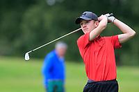 Aiden O'Carroll (Powerscourt) during the Connacht U14 Boys Amateur Open, Ballinasloe Golf Club, Ballinasloe, Galway,  Ireland. 10/07/2019<br /> Picture: Golffile | Fran Caffrey<br /> <br /> <br /> All photo usage must carry mandatory copyright credit (© Golffile | Fran Caffrey)