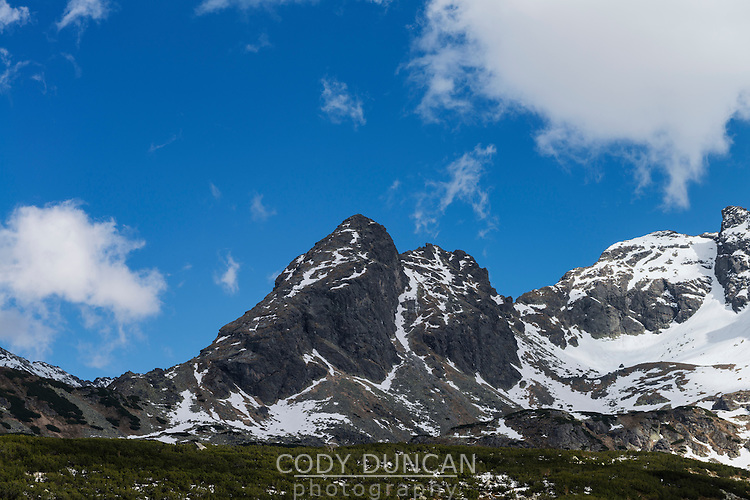 Koscielec (2155m) mountain peak, Tatra mountains, Poland