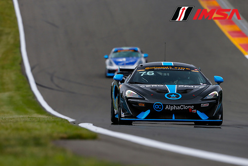 IMSA Continental Tire SportsCar Challenge<br /> Continental Tire 120 at The Glen<br /> Watkins Glen International, Watkins Glen, NY USA<br /> Thursday 29 June 2017<br /> 76, McLaren, McLaren GT4, GS, Matt Plumb, Paul Holton<br /> World Copyright: Jake Galstad/LAT Images