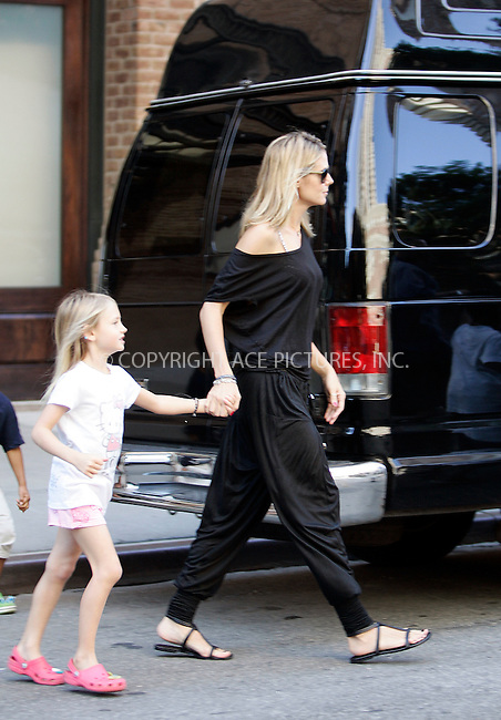 WWW.ACEPIXS.COM . . . . .  ....July 1 2011, New York City....TV personality Heidi Klum packs her family into a minibus and sets off out of the City for the holiday weekend on July 1 2011in New York City....Please byline: CURTIS MEANS - ACE PICTURES.... *** ***..Ace Pictures, Inc:  ..Philip Vaughan (212) 243-8787 or (646) 679 0430..e-mail: info@acepixs.com..web: http://www.acepixs.com