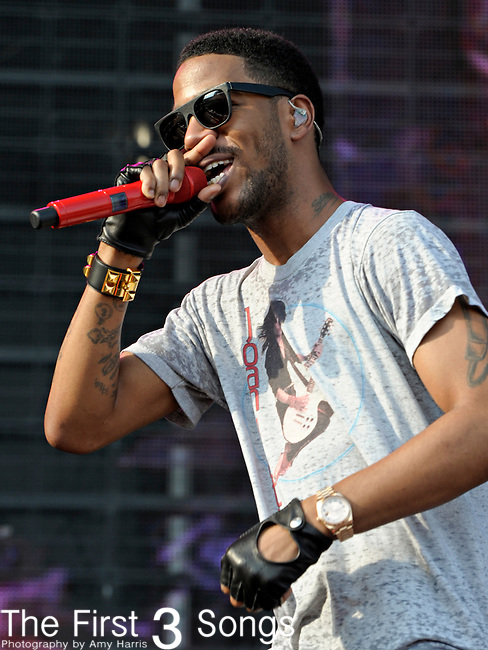 Kid Cudi performs during day 1 of the 2011 Kanrocksas Music Festival at Kansas Speedway in Kansas City, Kansas on August 5, 2011.