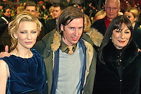 Cate Blanchett, Wes Anderson and Anjelica Huston at the Berlinale 2005, 55. Internationale Filmfestspiele Berlin / 55th Berlin Film Festival