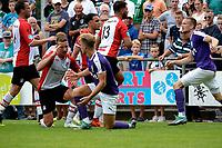 ROLDE - Voetbal, FC Groningen - FC Emmen, voorbereiding seizoen 2018-2019,  21-07-2018,     FC Groningen speler Mike te Wierik maakt ruzie met FC Emmen speler Kezaih Veendorp