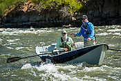 Fishermen & Women floating the Upper Colorado River fishing between Rancho Del Rio and State Bridge on August 25, 2014.