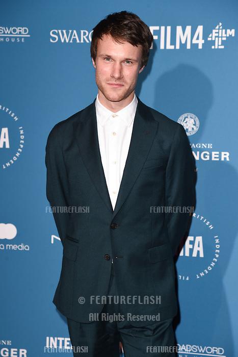 LONDON, UK. December 02, 2018: Hugh Skinner at the British Independent Film Awards 2018 at Old Billingsgate, London.<br /> Picture: Steve Vas/Featureflash