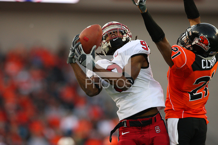 27 October 2007: Stanford Cardinal Richard Sherman during Stanford's 23-6 loss against the Oregon State Beavers at Reser Stadium in Corvallis, OR.