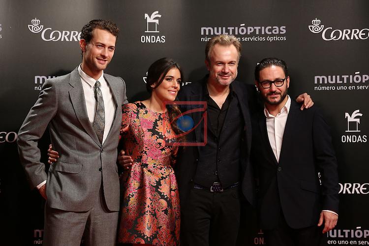 61 Premios Ondas.<br /> Photocall Gala ONDAS-Gran Teatre del Liceu.<br /> Peter Vives, Adriana Ugarte, Tristan Ulloa, Carlos Santos