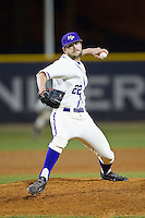 High Point Panthers relief pitcher Will Resnik (22) in action against the Coastal Carolina Chanticleers at Willard Stadium on March 15, 2014 in High Point, North Carolina.  The Panthers defeated the Chanticleers 11-8 in game two of a double-header.  (Brian Westerholt/Four Seam Images)