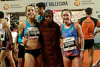 Gelete Burka, winner, Dixon, 2nd (r) and Ribeiro, 3rd, celebrate after the San Silvestre Vallecana 2017. December 31,2017. (ALTERPHOTOS/Acero) /NortePhoto.com