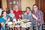 FAMILY: The Doyle Family Alderwood Road,Tralee who treated themselves to dinner in the Grand Hotel, Tralee to bring in the New Year on Friday night, L-r:Lisa,Ethan,Paul,Bernie and Martin Doyle...... . ............................... ..........