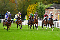 The start of the The Byerley Stud 'Season Finale' Handicap  during Bathwick Tyres Reduced Admission Race Day at Salisbury Racecourse on 9th October 2017