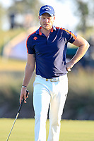 Danny Willett (ENG) on the 18th during the 1st round of the 2017 Portugal Masters, Dom Pedro Victoria Golf Course, Vilamoura, Portugal. 21/09/2017<br /> Picture: Fran Caffrey / Golffile<br /> <br /> All photo usage must carry mandatory copyright credit (&copy; Golffile | Fran Caffrey)