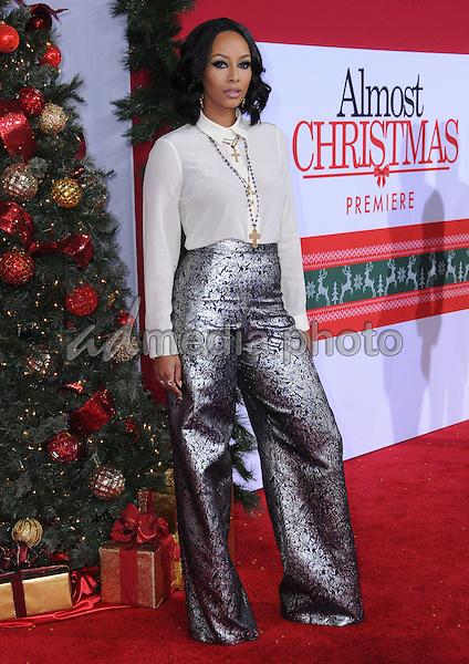 "03 November 2016 - Westwood, California. Keri Hilson. Premiere Of Universal's ""Almost Christmas"" held at Regency Village Theatre. Photo Credit: Birdie Thompson/AdMedia"