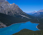 Banff National Park, Alberta, Canada    <br /> Peyto Lake and the Mistaya River valley