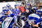 Uppsala 2015-10-23 Bandy Elitserien IK Sirius - Villa Lidk&ouml;ping BK :  <br /> Villa Lidk&ouml;pings huvudtr&auml;nare tr&auml;nare Johan Sixtensson i aktion under en timeout med Villa Lidk&ouml;pings spelare under matchen mellan IK Sirius och Villa Lidk&ouml;ping BK <br /> (Foto: Kenta J&ouml;nsson) Nyckelord:  Bandy Elitserien Uppsala Studenternas IP IK Sirius IKS Villa Lidk&ouml;ping tr&auml;nare manager coach