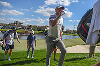Danny Willett (ENG) departs 18 during round 1 of the Arnold Palmer Invitational at Bay Hill Golf Club, Bay Hill, Florida. 3/7/2019.<br />
