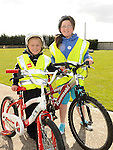 Ciara Thornton and Rebecca Waters who took part in the Glyde Rangers annual sponsored cycle in Tallinstown. Photo: Colin Bell/pressphotos.ie