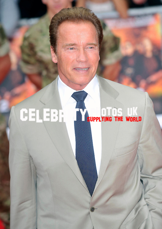 Arnold Schwarzenegger at the UK Premiere of  'The Expendables 2'  held at the Empire Leicester Square  London, England - 13.08.12Picture By: Brian Jordan / Retna Pictures.. ..-..