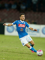 Napoli's Dries Mertens  during the  italian serie a soccer match against    Juventus,    at  the San  Paolo   stadium in Naples  Italy , September 26 , 2015