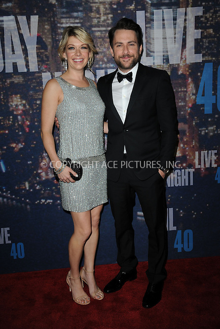 WWW.ACEPIXS.COM<br /> February 15, 2015 New York City<br /> <br /> Charlie Day walking the red carpet at the SNL 40th Anniversary Special at 30 Rockefeller Plaza on February 15, 2015 in New York City.<br /> <br /> Please byline: Kristin Callahan/AcePictures<br /> <br /> ACEPIXS.COM<br /> <br /> Tel: (646) 769 0430<br /> e-mail: info@acepixs.com<br /> web: http://www.acepixs.com