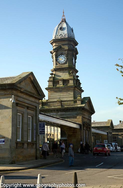 Exterior railway station Scarborough, Yorkshire, England