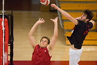 STANFORD, CA - January 2, 2018: Russell Dervay, Kyler Presho at Burnham Pavilion. The Stanford Cardinal defeated the Calgary Dinos 3-1.