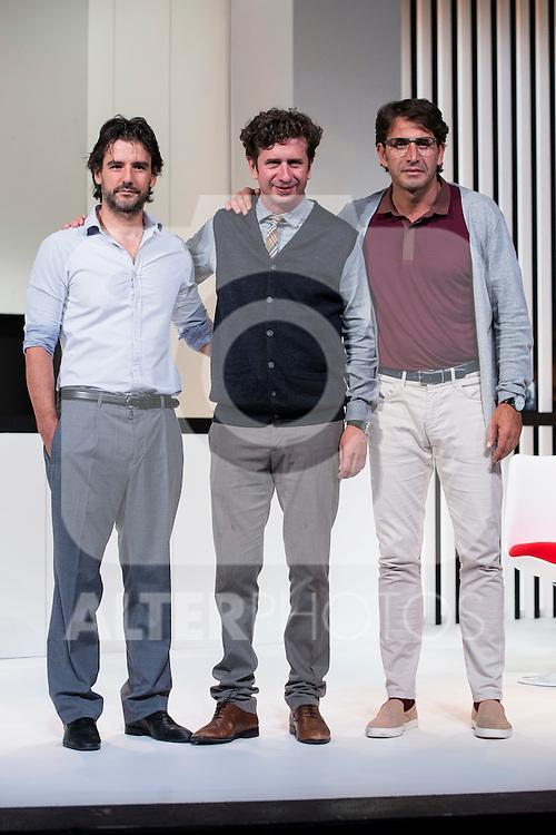 Antonio Hortelano, Gabino Diego and Antonio Garrido at &quot;Nuestras Mujeres&quot; Theater play in Latina Theater, Madrid, Spain, September 01, 2015. <br /> (ALTERPHOTOS/BorjaB.Hojas)