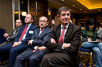 French Financial Markets Authority Chairman Jean-Pierre Jouyet (20d from right) at the signature ceremony of a Memorandum of Understanding between Paris Europlace and Shanghai Financial Services, at Shanghai / Paris Europlace Financial Forum, in Shanghai, China, on December 1, 2010. Photo by Lucas Schifres/Pictobank