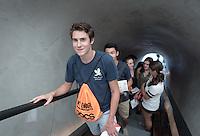 Incoming Occidental College students participate in Oxy Engage with the group LA Underground and visit The Broad contemporary art museum in downtown Los Angeles on Aug. 23, 2016.<br /> Oxy Engage is a pre-orientation program that introduces incoming students to the vibrant city of Los Angeles. Upperclassmen facilitators lead trips to experience culture, film, food, nature, social justice, the urban environment, and much more.<br /> (Photo by Marc Campos, Occidental College Photographer)
