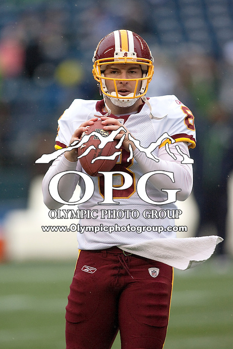 Nov 27, 2011: Washington's #8 Rex Grossman against Seattle.  Washington defeated Seattle 23-17 at CenturyLink Field in Seattle,WA.