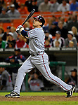 15 September 2007: Atlanta Braves second baseman Kelly Johnson in action against the Washington Nationals at Robert F. Kennedy Memorial Stadium in Washington, DC. The Nationals defeated the Braves 7-4 in the second game of their 3-game series...Mandatory Photo Credit: Ed Wolfstein Photo