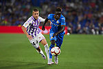 Getafe CF's Amath Ndiaye and Real Valladolid's Keko during La Liga match. August 31, 2018. (ALTERPHOTOS/A. Perez Meca)