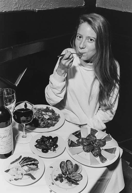 Nickie Julian of North East Feasts on the Thai Appetizer at Paella restaurant in June 1994. (Photo by Chris Martin/CQ Roll Call via Getty Images)