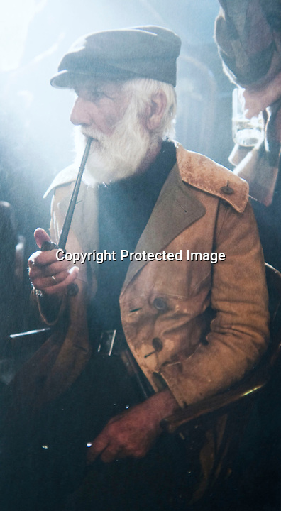 BNPS.co.uk (01202 558833)<br /> Pic: SvetlanaSavrasova/BNPS<br /> <br /> ***Please use full byline***<br /> <br /> Ivor Charles in Dark Shadows. <br /> <br /> Lights, camera, plankton!<br /> <br /> A crew of fishermen are enjoying unlikely sideline careers as actors in blockbuster films - thanks to their salty sea dog looks.<br /> <br /> The gang's craggy features, big beards and wild hair have helped them bag roles alongside Hollywood A-listers such as Johnny Depp and Charlize Theron.<br /> <br /> As many as 12 weather-beaten fishermen from Weymouth, Dorset, have found success on the big screen since signing up with a casting agency.<br /> <br /> And thanks to their authentic appearances they are regularly snapped by film producers wanting to make nautical scenes more realistic.