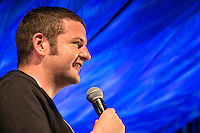 20th July 2014: Scottish comedian Kevin Bridges plays the Comedy Arena on the fourth day of the 9th edition of the Latitude Festival, Henham Park, Suffolk.<br /> Picture by Stuart Hogben